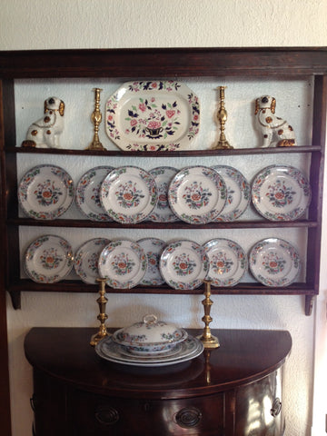 English Oak Plate Rack & English Oak Plate Rack \u2013 City Mouse Country Mouse Antiques