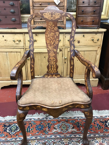 Queen Anne Marquetry Chair