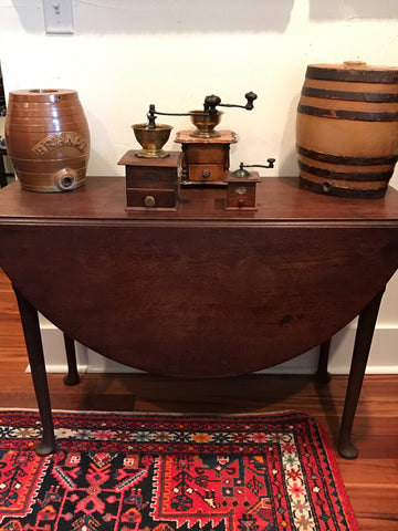 English Walnut Drop Leaf Table