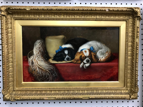 Oil of King Charles Spaniels