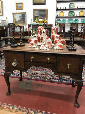 English Oak Queen Anne Style Lowboy