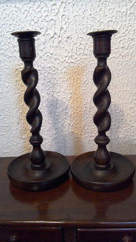 Barley Twist Candlesticks 12.5''