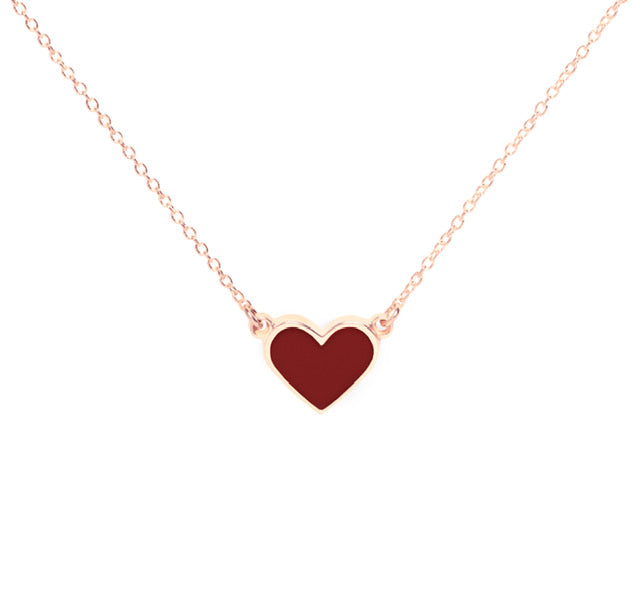 The Georgia Alexandra X Fitmama Enamel Heart Necklace - PREORDER