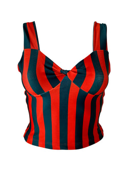Corset Gia DL Stripes Samba Red/Green Black - PREORDER