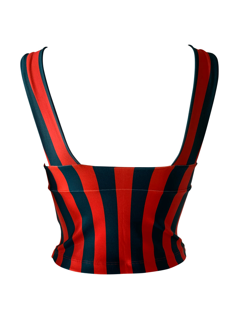 Corset Gia DL Stripes Samba Red/Green Black