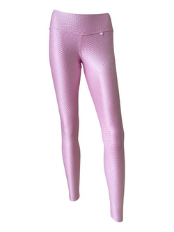 BASIC Jacquard Bootie Scrunch Legging in Party Pink - PREORDER
