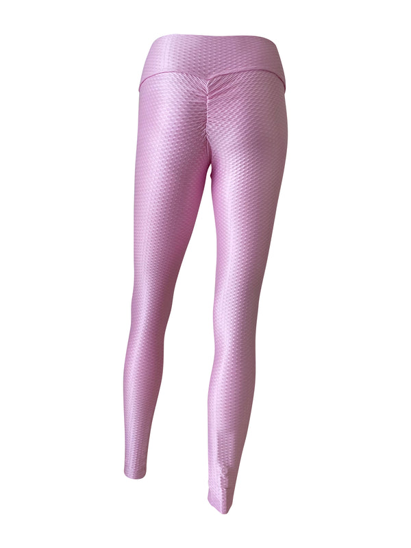 BASIC Jacquard Bootie Scrunch Legging in Party Pink