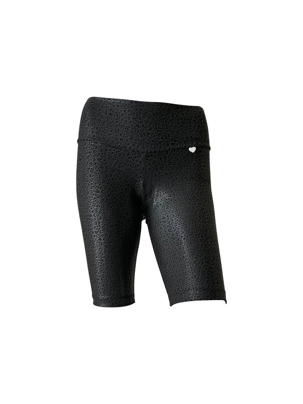 BASIC Biker Short in Shiny Black Leopard - PREORDER