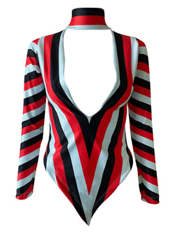 Emilia Shirt DL Stripes Samba Red/Baby Blue/Black - PREORDER