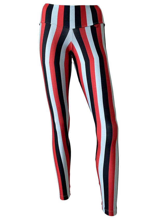 Leggings DL Stripes Samba Red/Baby Blue/Black - PREORDER