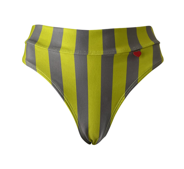 Fitness Bikini Nilsa in Stripes DL Green Sheen/Olive