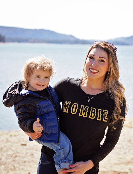 Mombie® Long Sleeve Burnout Tee - Still Rad Clothing  - 2