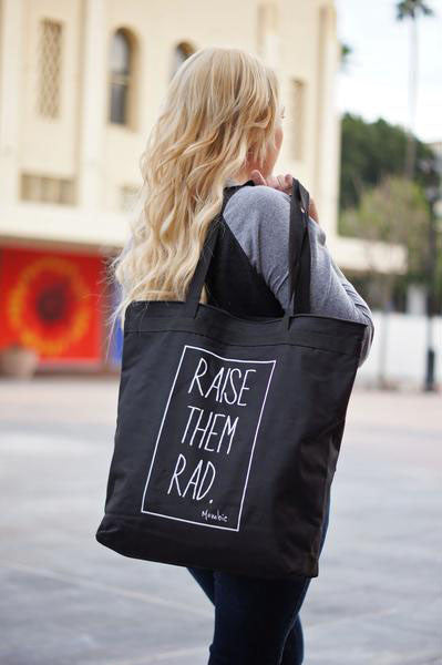 Raise them Rad™ Large Zippered Tote Bag