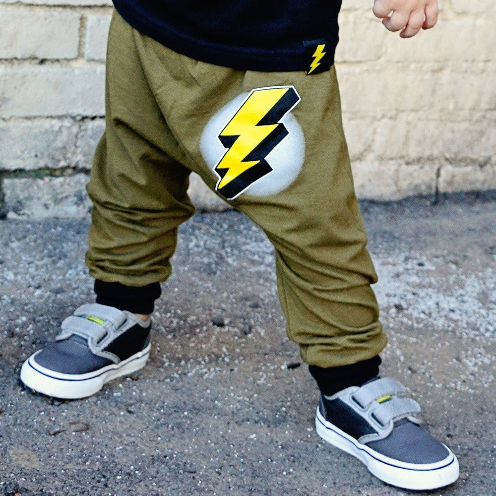 Thunder Bolt & Lightning Harem Pants {Collab}