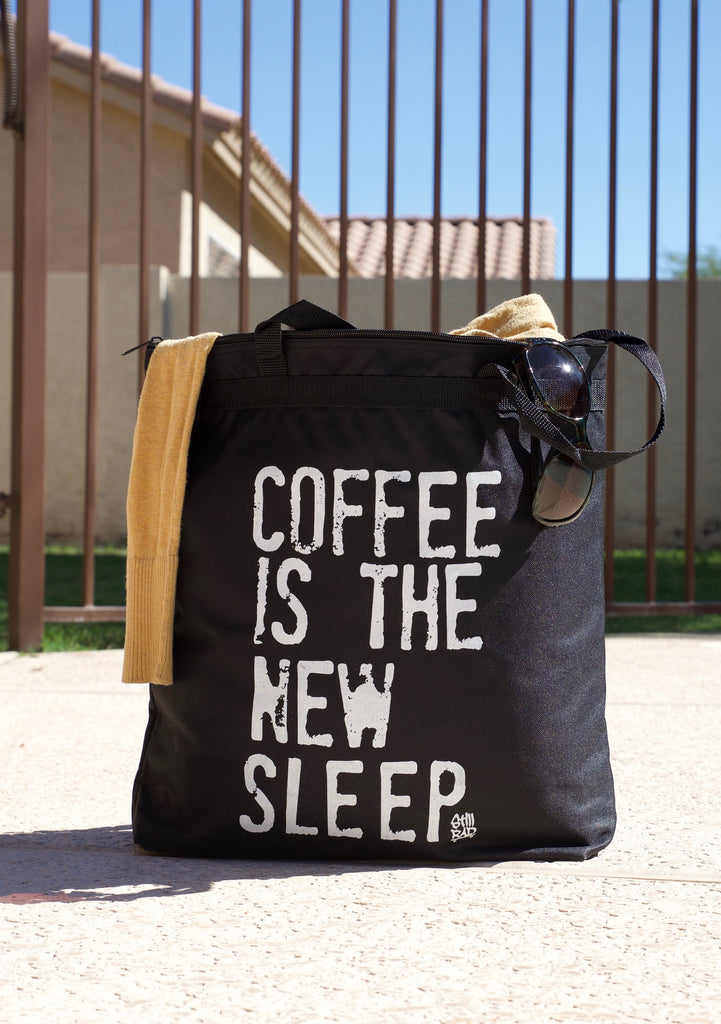 Coffee is the New Sleep™ Zippered Tote Bag - Still Rad Clothing  - 1