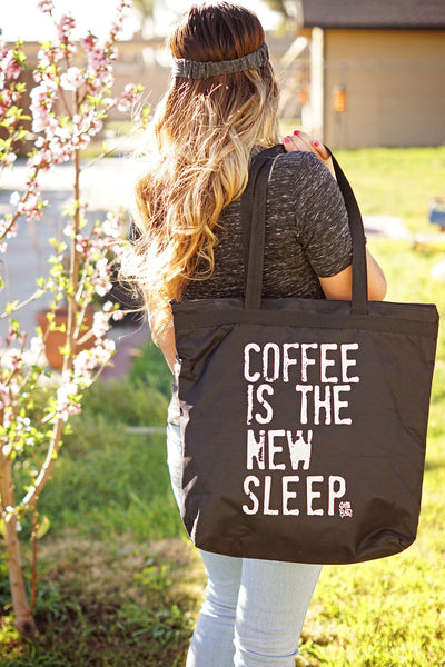 Coffee is the New Sleep™ Zippered Tote Bag - Still Rad Clothing  - 2
