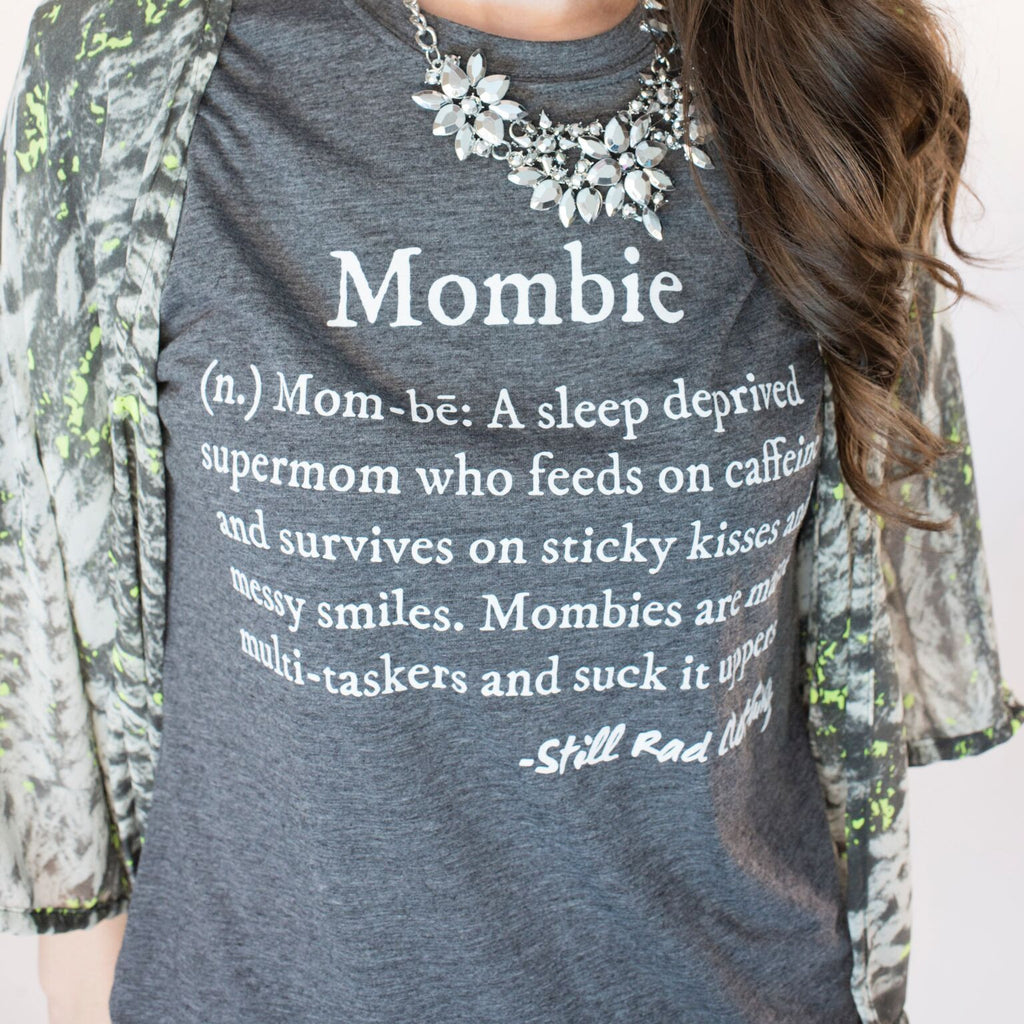Mombie® Defined shirt (crew neck) Charcoal