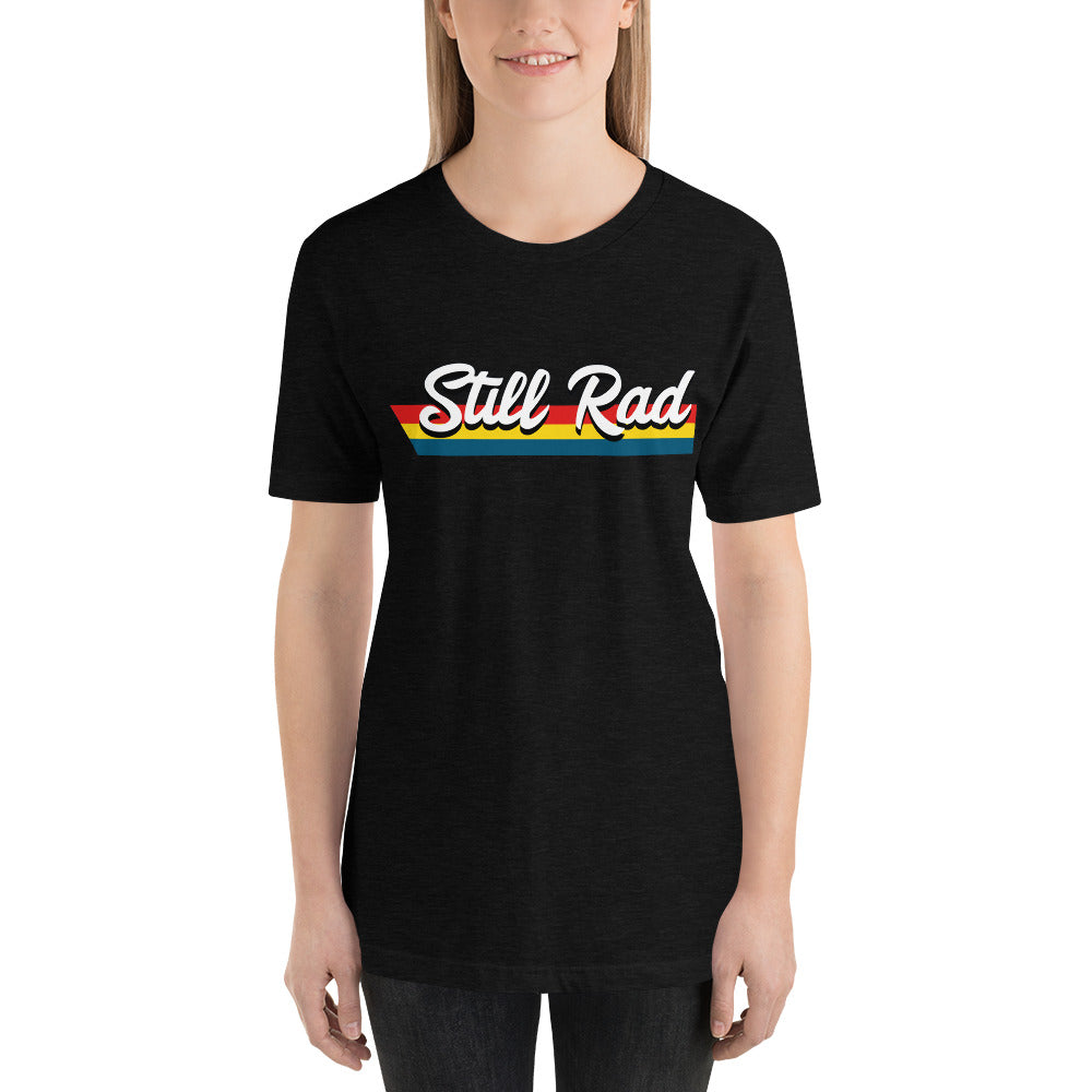 Still Rad Stripes Logo Unisex Tee