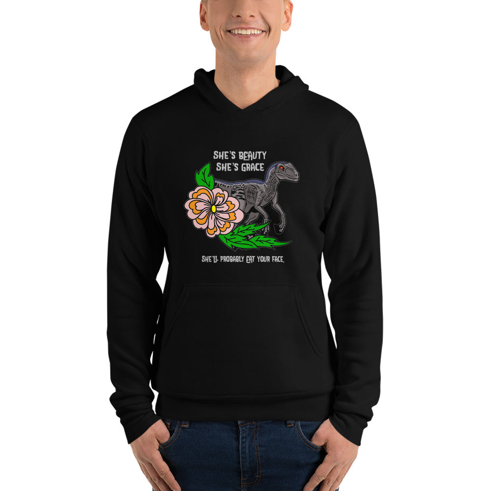 Eat Your Face Raptor Unisex Hoodie