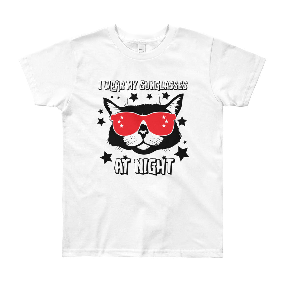 I Wear My Sunglasses At Night Youth Shirt