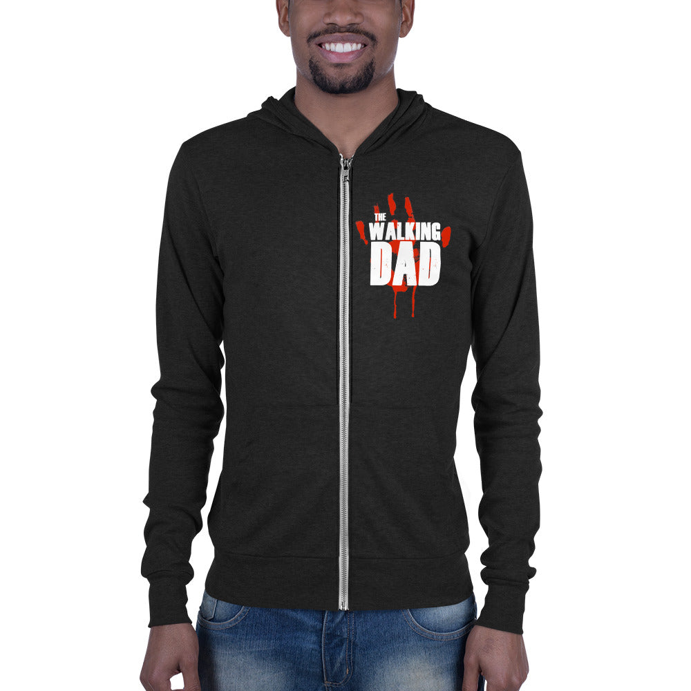 The Walking Dad Zippered Hoodie