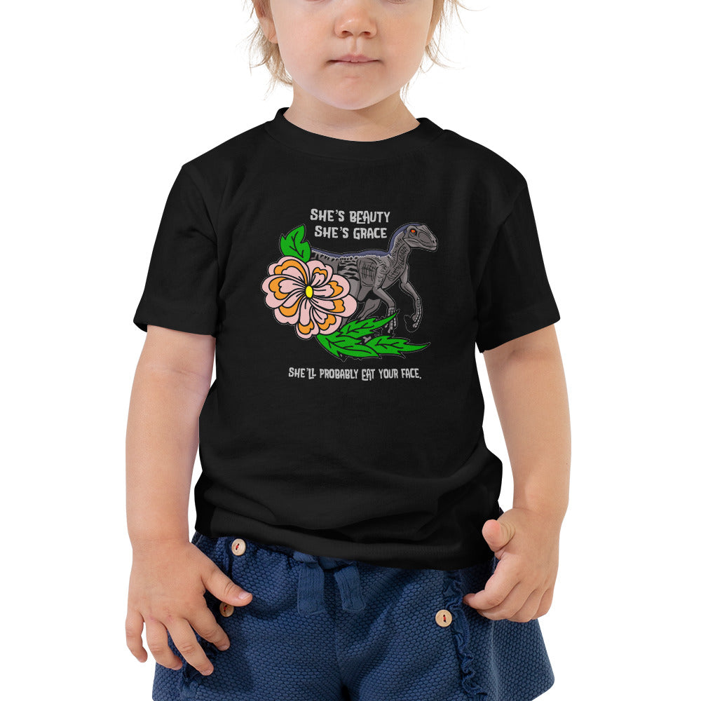 Eat Your Face Raptor Child Shirt
