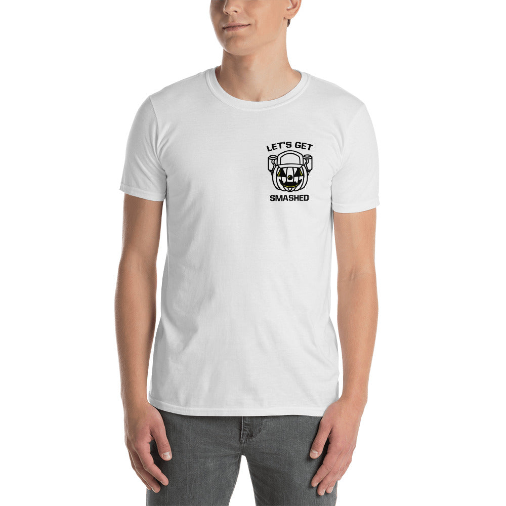 Let's Get Smashed Unisex Shirt (white)