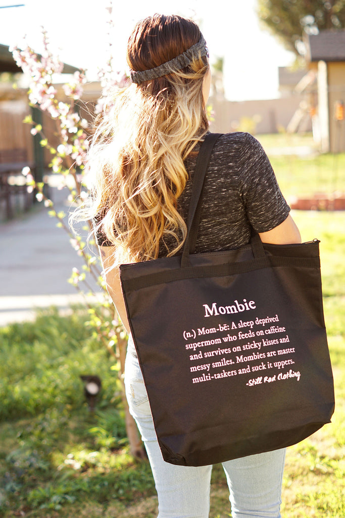 Mombie Defined Large Zippered Tote