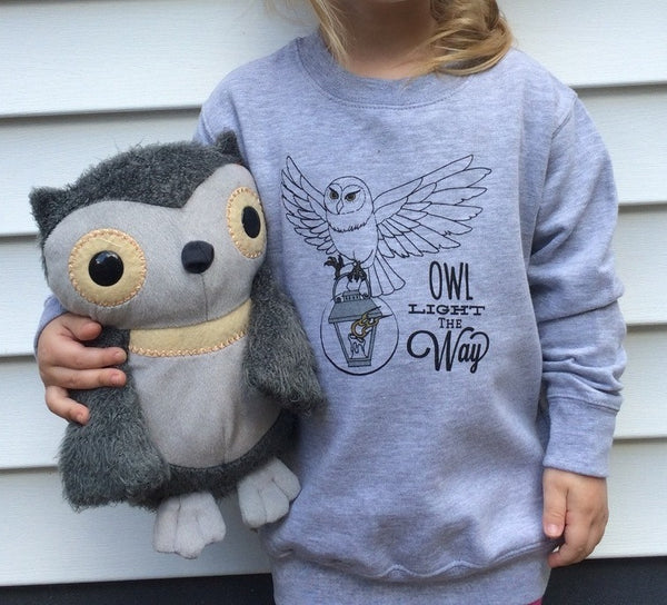 Owl Light the Way Child Pullover - Still Rad Clothing