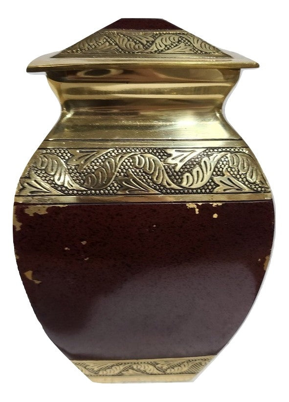 Scratch & Dent Burngundy and Gold Adult Urn