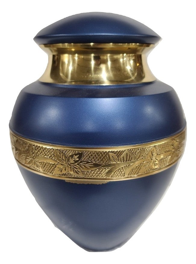 Copy of Scratch & Dent Blue and Gold Urn