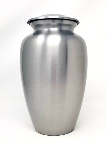 Classic Silver Cremation Urn- IUAL159