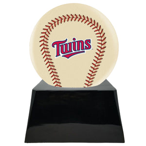 Ivory Baseball Trophy Urn Base with Optional Minnesota Twins Team Sphere