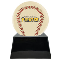 Ivory Baseball Trophy Urn Base with Optional Pittsburgh Pirates Team Sphere