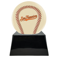 Ivory Baseball Trophy Urn Base with Optional San Francisco Giants Team Sphere