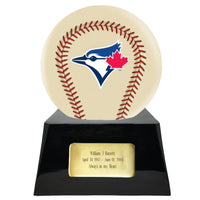 Ivory Baseball Trophy Urn Base with Optional Toronto Blue Jays Team Sphere