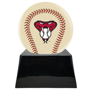 Ivory Baseball Trophy Urn Base with Optional Arizona Diamondbacks Team Sphere
