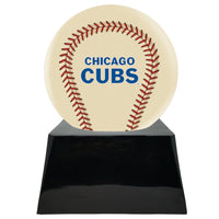 Ivory Baseball Trophy Urn Base with Optional Chicago Cubs Team Sphere