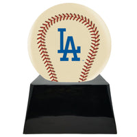 Ivory Baseball Trophy Urn Base with Optional Los Angeles Dodgers Team Sphere