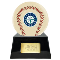 Ivory Baseball Trophy Urn Base with Optional Seattle Mariners Team Sphere