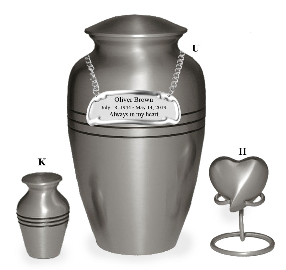 Classic Pewter Cremation Urn - IUCL101