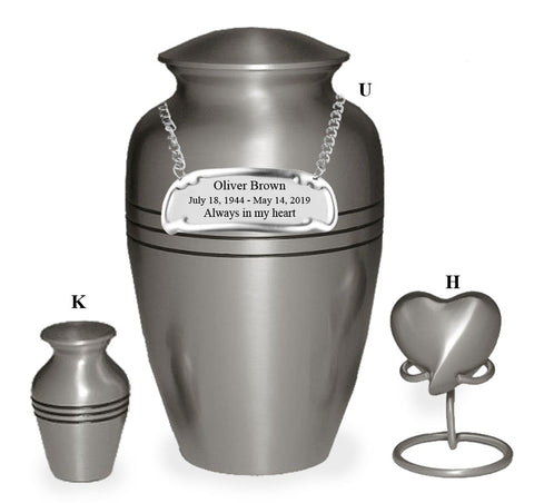 Classic Pewter Cremation Urn- IUCL101