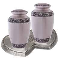 Athens Pewter Companion Cremation Urn - IUCL139-CP