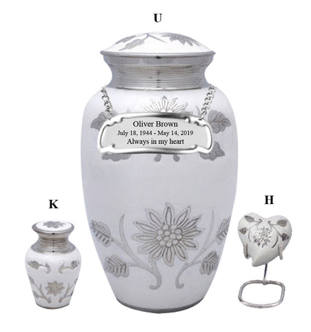 White Sunflower Cremation Urn- IUCL141