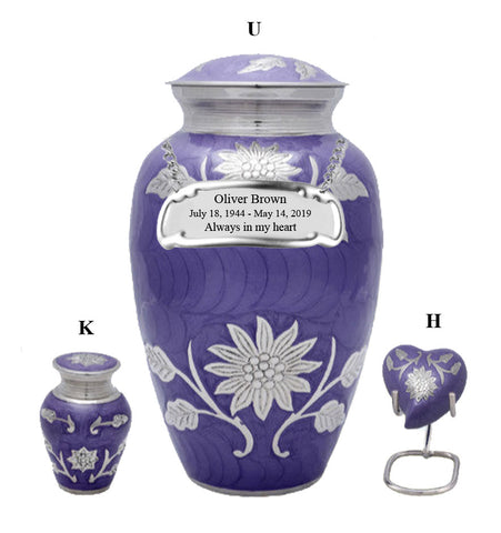 Purple Sunflower Cremation Urn- IUCL143