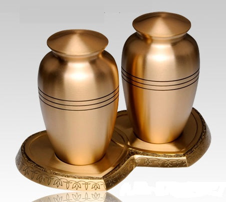 Classic Gold Companion Cremation Urn- IUCL101-CP