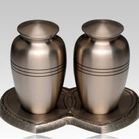 Classic Pewter Companion Cremation Urn - IUCL101-CP
