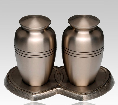 Classic Pewter Companion Cremation Urn- IUCL100-CP