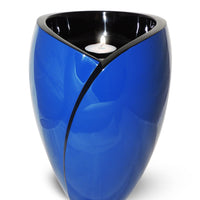 Tealight Adult Fiberglass Urn, Blue- IUFC100