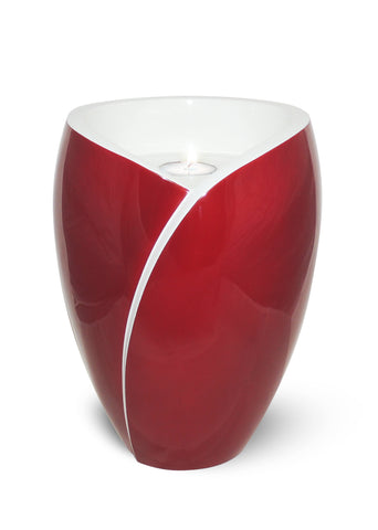 Tea Light Adult Fiber Glass Urn- Red- IUFC102